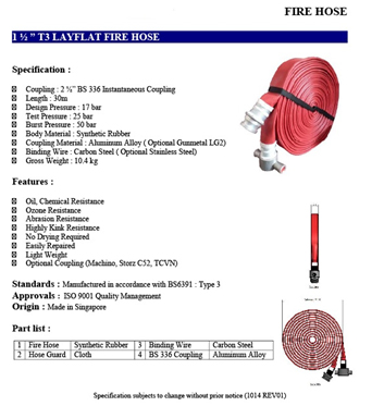 Fire Hosereel Fire Protection System Singapore